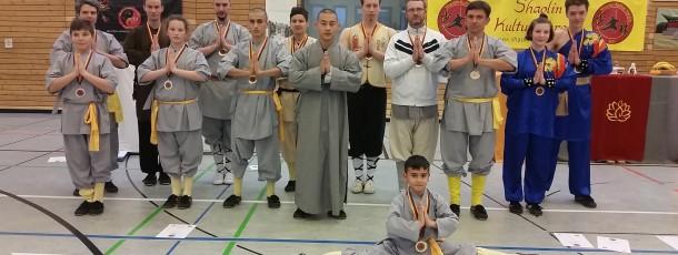 Erste Kung Fu Turnier des Vereins gleich international